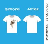 clothes before and after wash.... | Shutterstock .eps vector #1172739730
