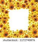 Photoreal Sunflower Frame Space For - Fine Art prints