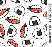 onigiri and sushi seamless... | Shutterstock .eps vector #1172745046