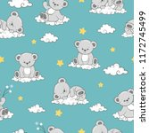 seamless pattern with cute... | Shutterstock .eps vector #1172745499