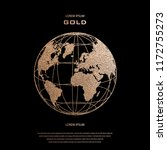 creative gold map of the world. ... | Shutterstock .eps vector #1172755273