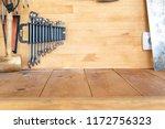 Wooden Workbench At Workshop....