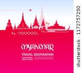 travel to myanmar vector...   Shutterstock .eps vector #1172757250