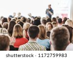 audience in small classroom.... | Shutterstock . vector #1172759983