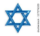 illustration of blue hexagram... | Shutterstock . vector #117276103