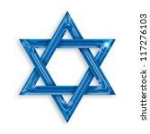 illustration of blue hexagram... | Shutterstock . vector #117276103