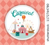 carnival festival cartoons | Shutterstock .eps vector #1172764780