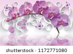 wallpapers with orchids and... | Shutterstock . vector #1172771080