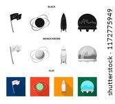 vector illustration of mars and ... | Shutterstock .eps vector #1172775949