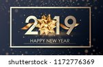 happy new year 2019 winter... | Shutterstock .eps vector #1172776369