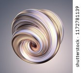3d render  abstract white gold... | Shutterstock . vector #1172781139