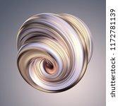 3d render  abstract white gold... | Shutterstock . vector #1172781139