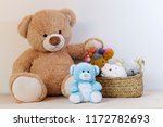 teddy bears and stuffed animal... | Shutterstock . vector #1172782693