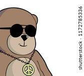 bear with sunglasses | Shutterstock .eps vector #1172785336