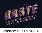 speedy display font design ... | Shutterstock .eps vector #1172788816