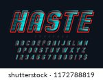 speedy display font design ... | Shutterstock .eps vector #1172788819