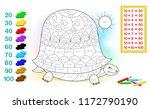 worksheet with exercises for... | Shutterstock .eps vector #1172790190