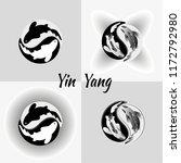 set pattern of yin yang koi...   Shutterstock .eps vector #1172792980
