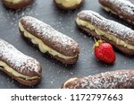 chocolate pastry profiteroles... | Shutterstock . vector #1172797663