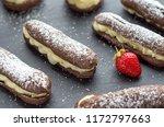 chocolate pastry profiteroles... | Shutterstock . vector #1172797663