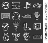 soccer football icons set white ...   Shutterstock . vector #1172797900