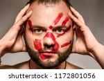man art beauty | Shutterstock . vector #1172801056