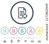 cancel document flat color... | Shutterstock .eps vector #1172803549