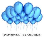 blue party balloons group... | Shutterstock . vector #1172804836