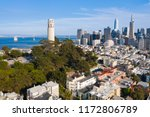 aerial view of coit tower and... | Shutterstock . vector #1172806789