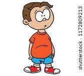 confused standing cartoon...   Shutterstock .eps vector #1172809213