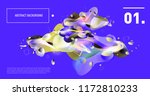 creative geometric wallpaper.... | Shutterstock .eps vector #1172810233