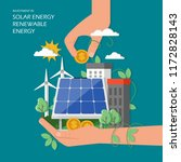 investment in solar renewable...   Shutterstock .eps vector #1172828143