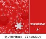 elegant christmas background...   Shutterstock .eps vector #117283309