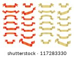 collection of red and golden... | Shutterstock . vector #117283330