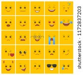 smiley faces with facial... | Shutterstock .eps vector #1172837203