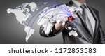 world gathering help for japan... | Shutterstock . vector #1172853583