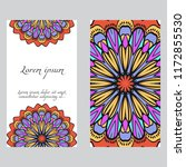 cards or invitations set with...   Shutterstock .eps vector #1172855530