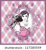 girl with long hair. elegant... | Shutterstock .eps vector #117285559
