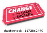 change ticket to success adapt...   Shutterstock . vector #1172862490