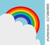rainbow floating on the sky... | Shutterstock .eps vector #1172864800