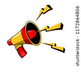 megaphone broadcast vector. | Shutterstock .eps vector #1172864806