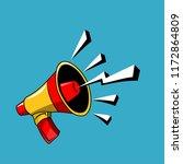 megaphone broadcast vector.   Shutterstock .eps vector #1172864809