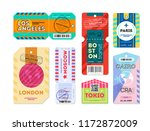 set of luggage label tag... | Shutterstock .eps vector #1172872009