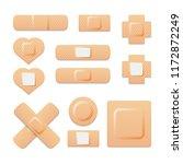 adhesive bandage elastic... | Shutterstock .eps vector #1172872249