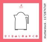 kitchen kettle linear icon | Shutterstock .eps vector #1172874769