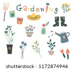 hand drawn plant collection.... | Shutterstock .eps vector #1172874946