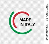 made in italy  half circles... | Shutterstock .eps vector #1172886283