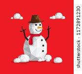 snowman vector equipment with... | Shutterstock .eps vector #1172891230