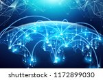 abstract of world network ... | Shutterstock .eps vector #1172899030