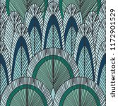 peacock feather pattern  | Shutterstock .eps vector #1172901529